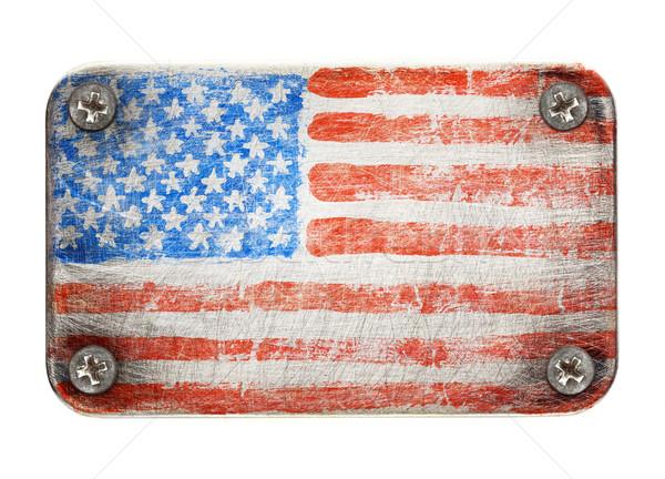 Flag on metal Stock photo © donatas1205