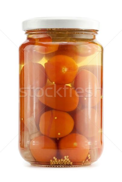 Megőrzött paradicsom üveg bögre étel piros Stock fotó © donatas1205