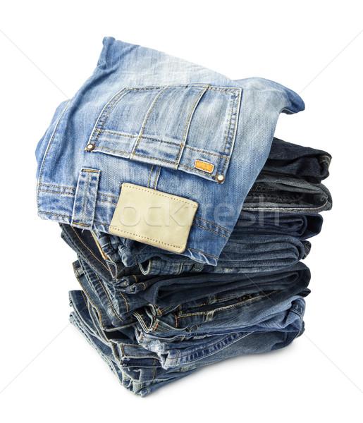 Jeans pantaloni bianco donna moda Foto d'archivio © donatas1205