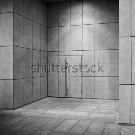 Сток-фото: внешний · современное · здание · стены · двери · свет