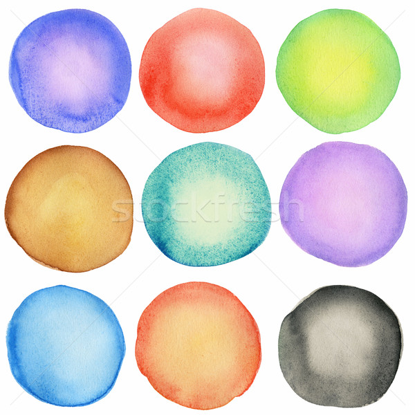 Watercolor circles Stock photo © donatas1205