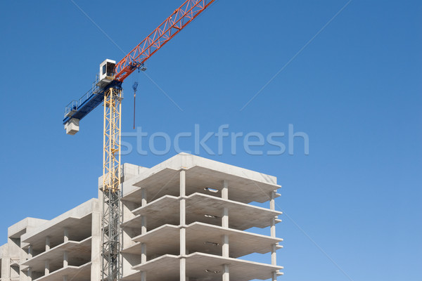 construction with crane Stock photo © donatas1205