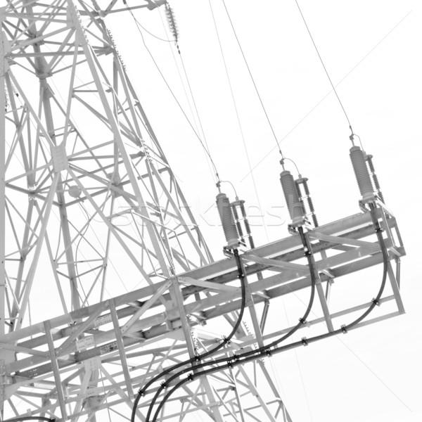 電源 行 高電圧 パワーサプライ 金属 都市 ストックフォト © donatas1205