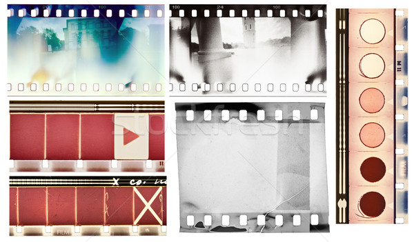 Film vintage texturen ingesteld geïsoleerd Stockfoto © donatas1205