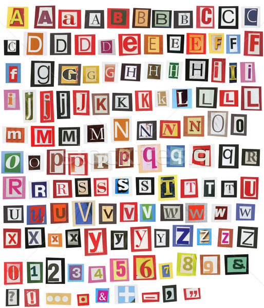 Newspaper alphabet Stock photo © donatas1205