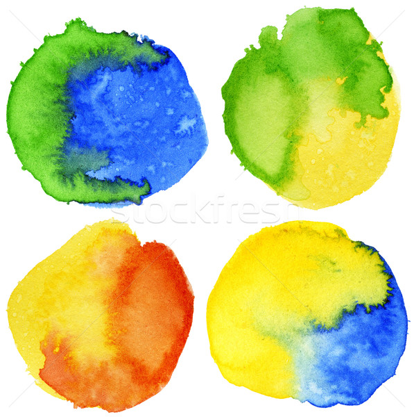 Stockfoto: Aquarel · cirkel · vorm · achtergronden · papier · textuur