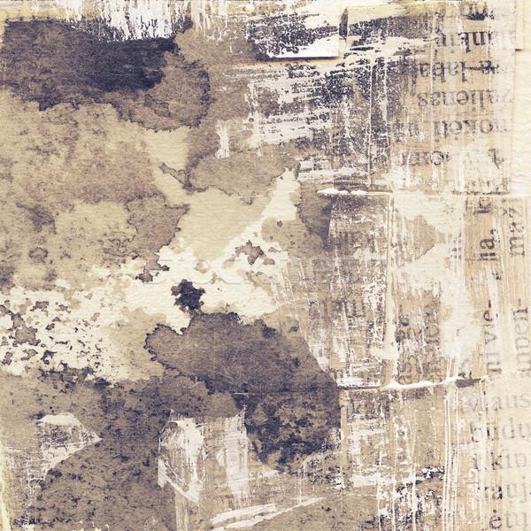 Grunge tekstury streszczenie grunge atramentu tekstury papieru Zdjęcia stock © donatas1205