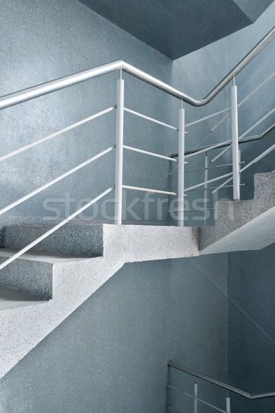 Pusty klatka schodowa nowoczesny budynek wnętrza tekstury tle Zdjęcia stock © donatas1205
