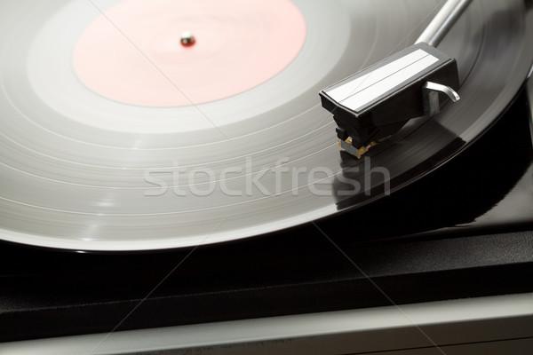 Bakelit lemezjátszó klasszikus lemezjátszó retro hang Stock fotó © donatas1205