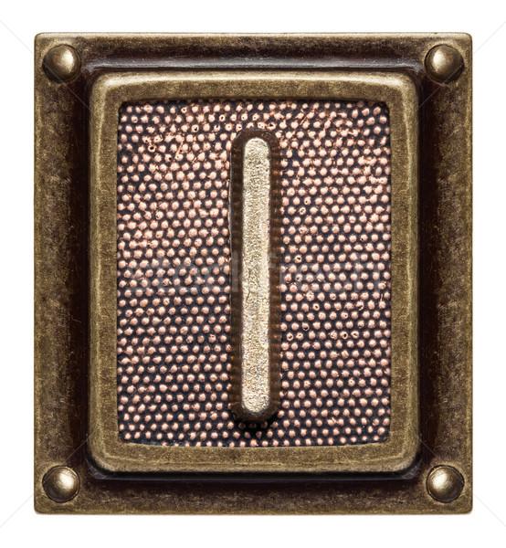 ボタン アルファベット 金属 手紙i テクスチャ 背景 ストックフォト © donatas1205