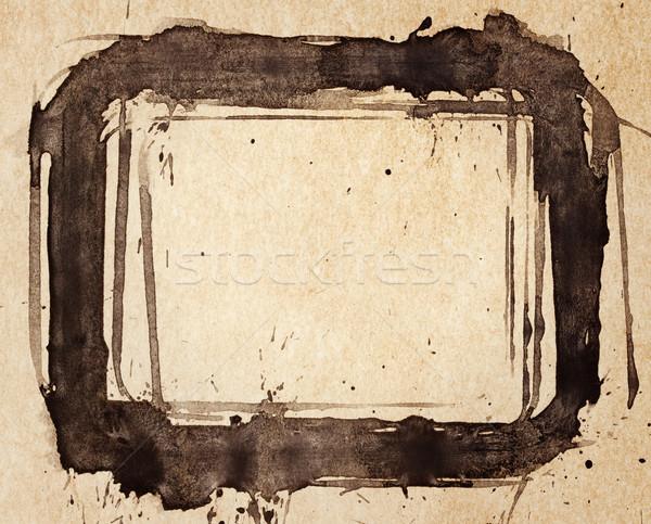 Geschilderd frame abstract inkt papier ontwerp Stockfoto © donatas1205