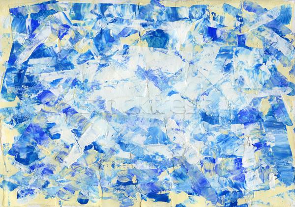 Acryl abstract hand geschilderd textuur kunst Stockfoto © donatas1205