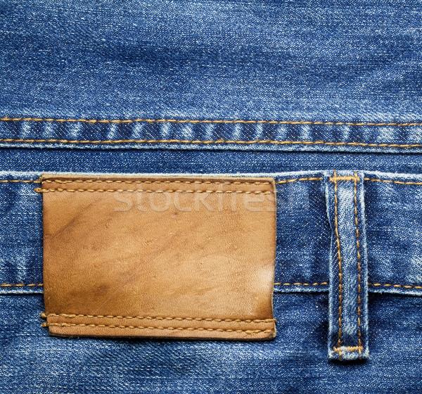 Jeans etichetta pantaloni pelle texture Foto d'archivio © donatas1205