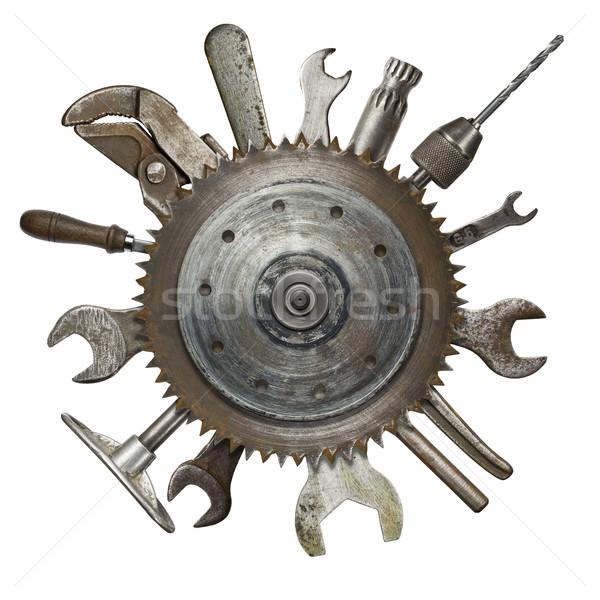 Rusty herramientas collage fondo industria industrial Foto stock © donatas1205