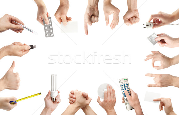Hands set Stock photo © donatas1205