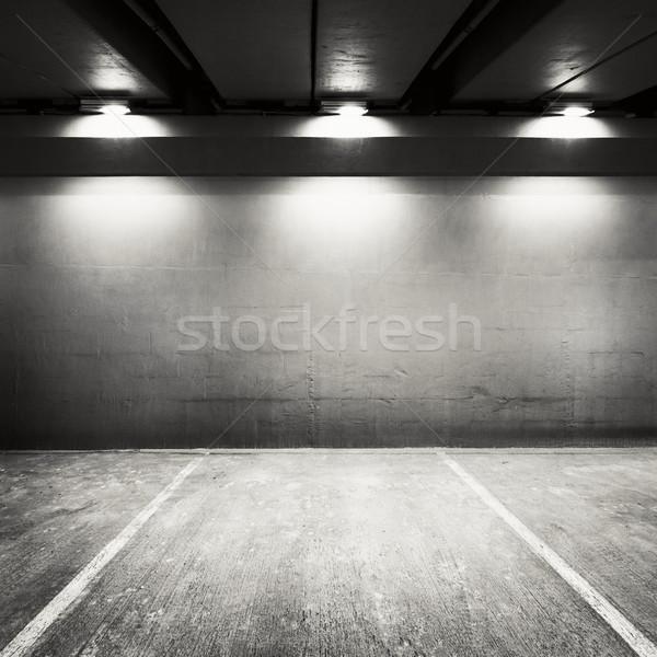 Parking vide stationnement mur urbaine industrielle Photo stock © donatas1205