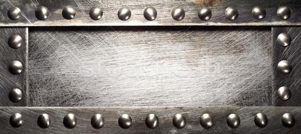 Stock fotó: Fém · tányér · textúra · terv · ipar · ipari