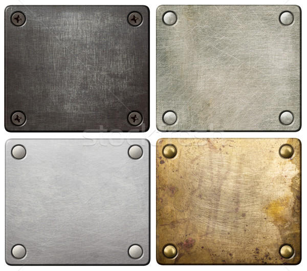 Stock photo: Metal plates