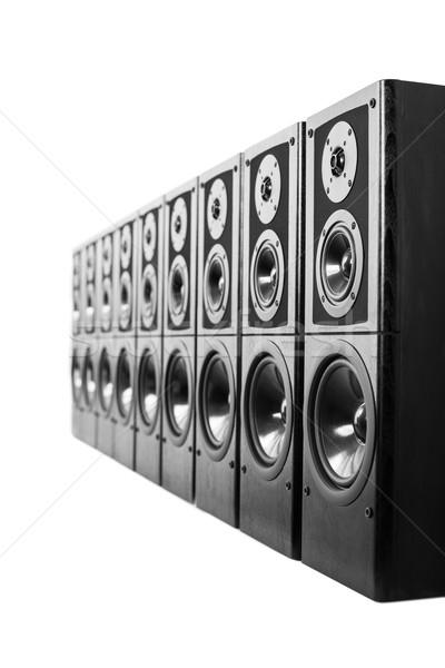 Hangfalak fekete audio sztereó felszerlés technológia Stock fotó © donatas1205