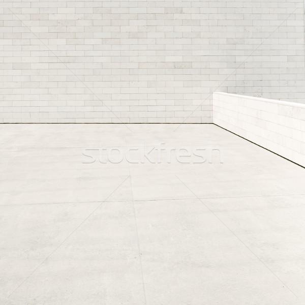 Buitenkant fragment modern gebouw achtergrond beton architect Stockfoto © donatas1205