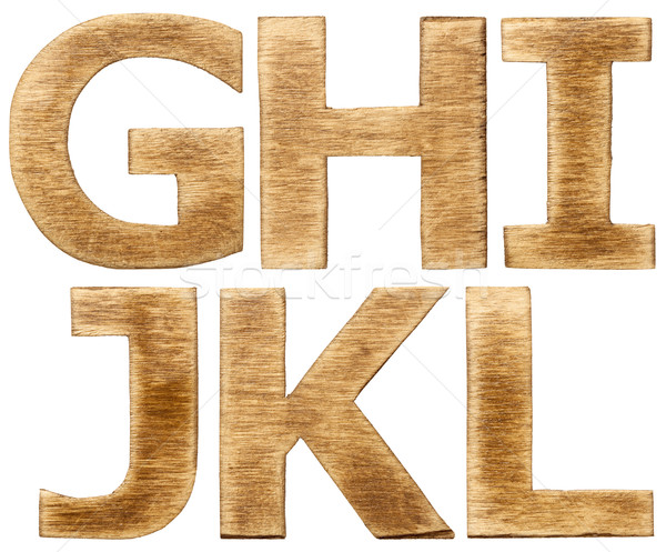 Wooden alphabet Stock photo © donatas1205