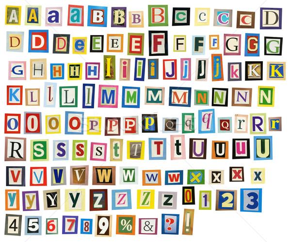 Journal alphabet magazine lettres nombre nouvelles Photo stock © donatas1205