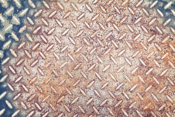 Metal texture vecchio arrugginito texture abstract design Foto d'archivio © donatas1205