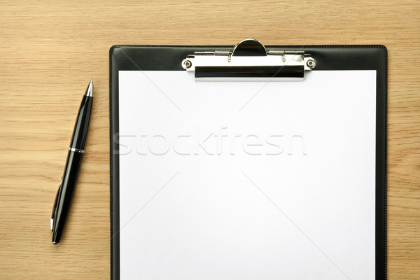 Photo stock: Bureau · table · travaux · stylo · design · fond