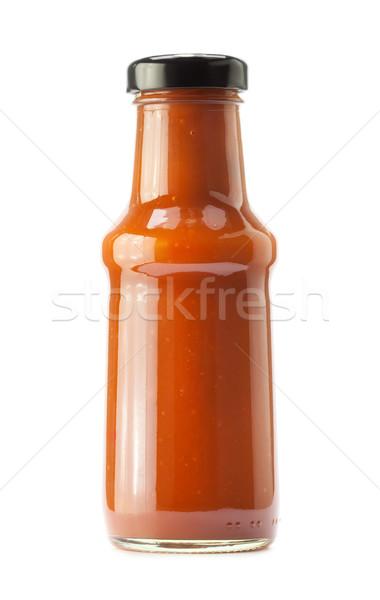 кетчуп бутылку белый продовольствие красный еды Сток-фото © donatas1205