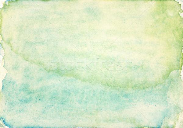 Foto stock: Acuarela · resumen · azul · pintura · wallpaper · vintage