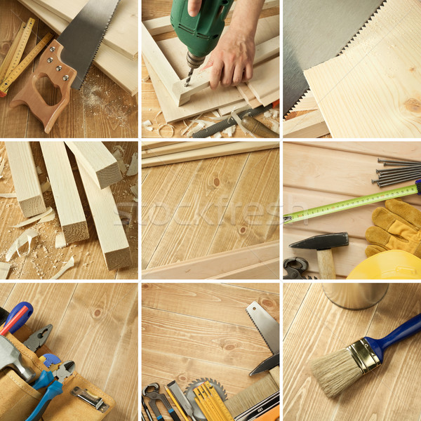 Outils collage menuiserie bois texture Photo stock © donatas1205