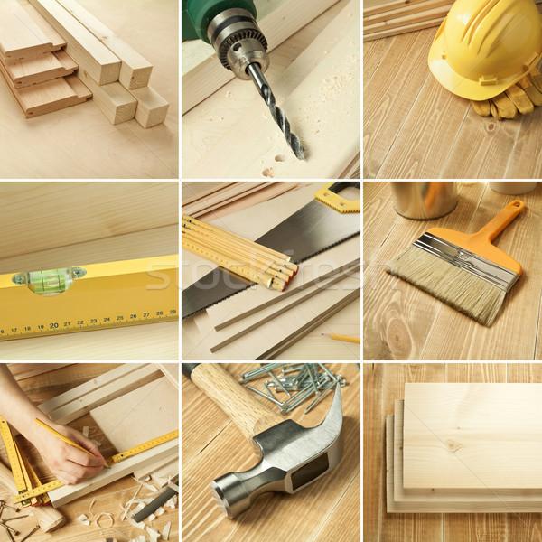 Tools collage Stock photo © donatas1205