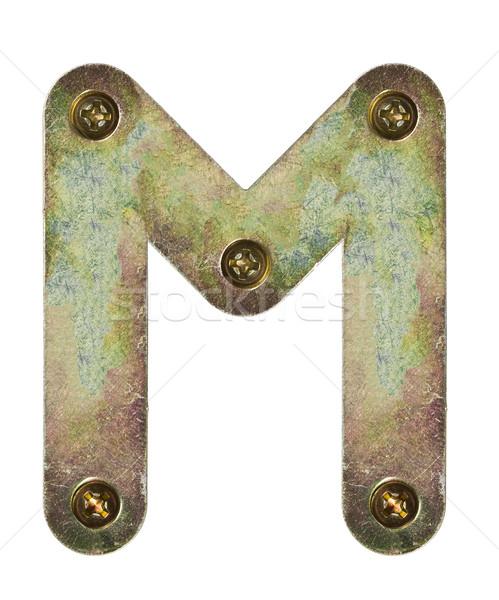 металл письме старые алфавит буква М текстуры Сток-фото © donatas1205