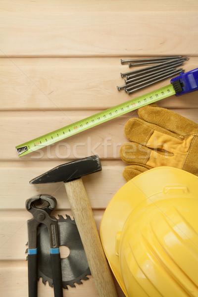 Photo stock: Bois · travail · outils · bois · vu · souverain