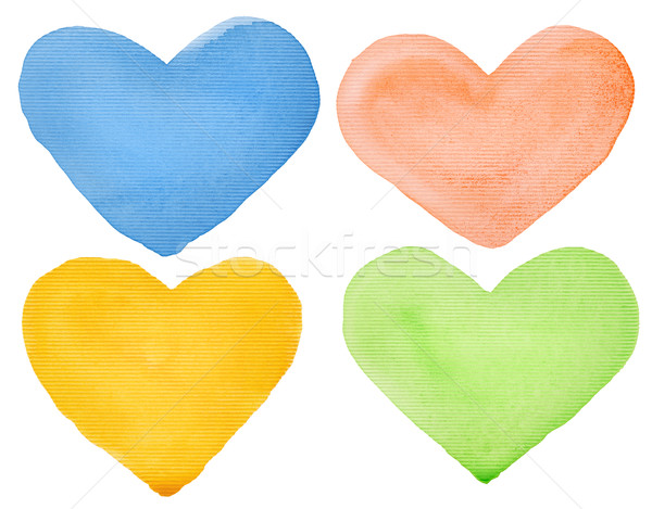 Watercolor hearts Stock photo © donatas1205