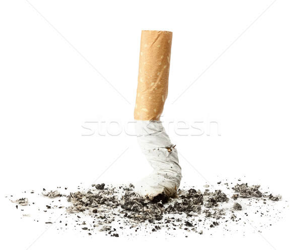 Stockfoto: Sigaret · butt · as · geïsoleerd · gezondheid · drugs