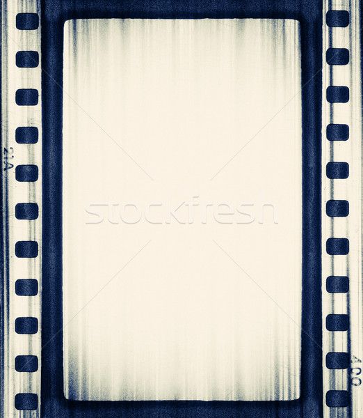 Film grunge abstract kunst Blauw bioscoop Stockfoto © donatas1205