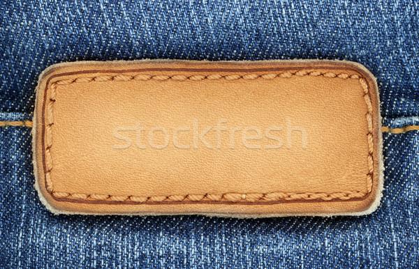 Dżinsy etykiety skóry puszka używany Zdjęcia stock © donatas1205