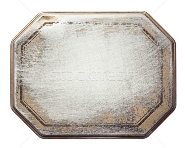 Metal doku bağbozumu can Metal çerçeve Stok fotoğraf © donatas1205