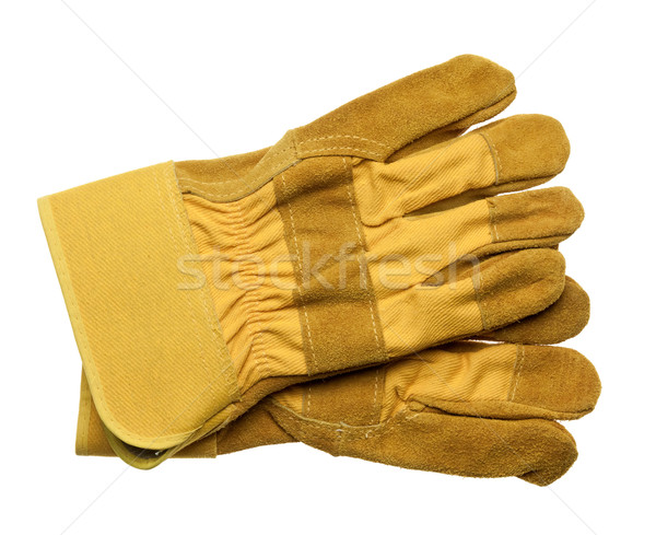 Gants isolé blanche construction travaux fond Photo stock © donatas1205