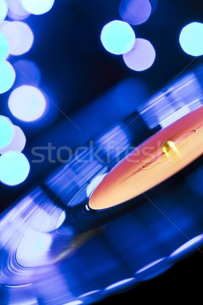 Bakelit lemezjátszó lemez bemozdulás kép retro Stock fotó © donatas1205
