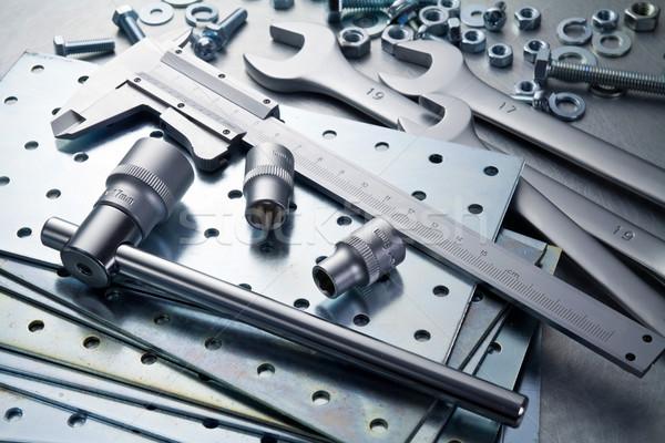 ストックフォト: 金属 · ツール · 作業 · 鋼 · 建設