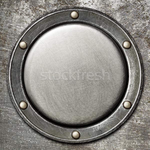 Metal textura de metal diseno fondo industria placa Foto stock © donatas1205