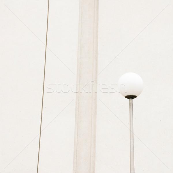 Buitenkant fragment gebouw achtergrond industrie beton Stockfoto © donatas1205