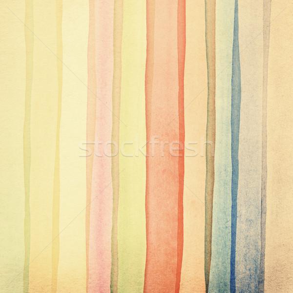 Vízfesték művészet használt elemek kéz terv Stock fotó © donatas1205