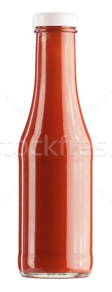 Ketchup bottiglia bianco alimentare rosso mangiare Foto d'archivio © donatas1205
