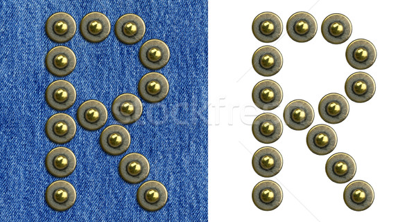 Jeans alphabet Stock photo © donatas1205
