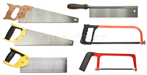 Main vu bois métal Photo stock © donatas1205
