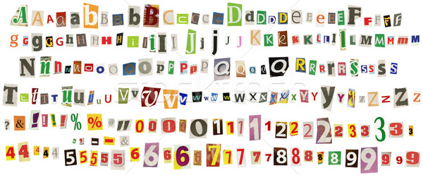 Stock photo: Newspaper alphabet