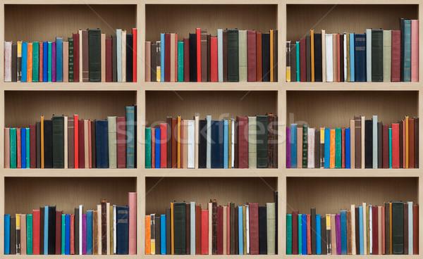 Livros papel textura livro madeira Foto stock © donatas1205
